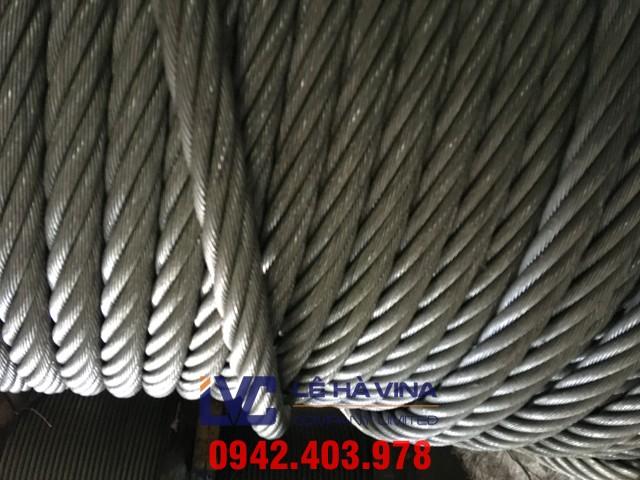 Cáp inox 304 6*19 FC, Cáp inox 304, Cáp inox, cáp inox 304 phi 8, Cáp inox 304 phi 8